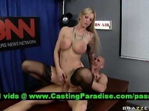 Brooke Banner stunning blonde riding cock