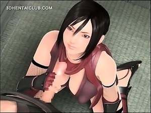 3d anime beauty working her wet hentai pussy