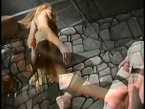 Poor tortured slave has his balls kicked by extreme dominatrix