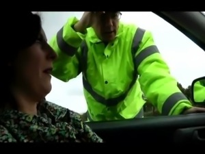 Lara gets pulled over by cop and fingered hard and deep free