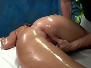 Busty brunette brooklyn hot oily massage