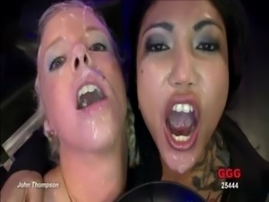 Bukkake fetish slut blowjobs and cum facials free