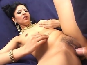Sexy babe from india gets nailed in her mossy cave