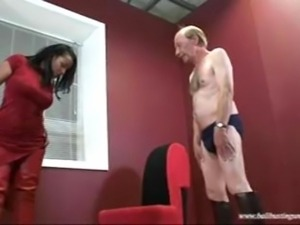 Ballbusting chicks old man
