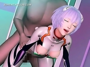 Anime babe gets fucked by monsters tentacles