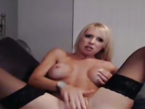 Gorgeous Busty Blonde Plays her Juicy Tight Cunt