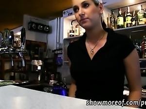 Barmaid Lenka pussy railed for some cash