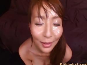 Jessica gets a cum load