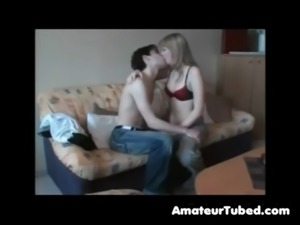 Amateur couple sex on couch free
