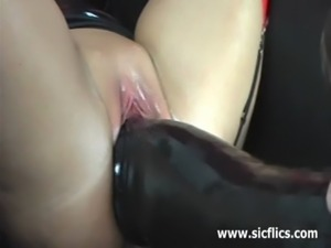 I love gigantic dildos stretching my huge pussy free