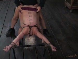 tied up, bent over and fucked hard