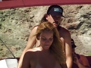 Group sex action on yacht getting you off