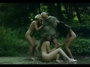 CaveMan have Three Some with Cave Girls in the Woods free