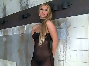 Gorgeous blonde makes horny man feel like he owns the world as he gives him a...