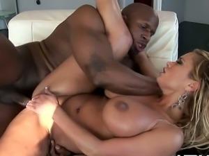 Busty blonde milf shyla stylez with big black dick
