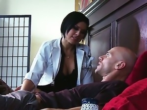 Eva Angelina is horny and eager to feel Johnny Sinss huge cock penetrating her