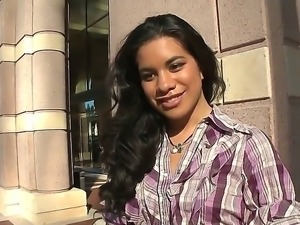 Today this hot Latina brunette, named Ayana, joins to ride our hot, exciting bus