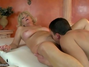 Sally G is a fuck hungry blond granny with dripping