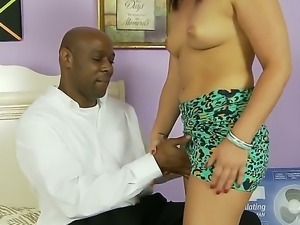 Black guy likes white chicks with small titties, just like his girl here...