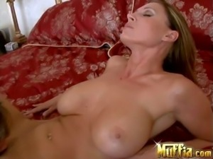 Attractive brunette Devon Lee with perfectly shaped body and jaw