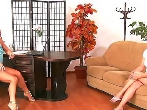 Hot Brooke and arousing Silvia Saint are having a sensual lesbian softcore...