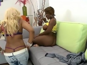 Sexy chocolate booty whores Beauty Dior and Kakey perform yummy pussy eating...