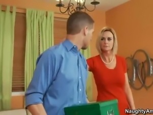 His buddy's mom is a sexy blonde. And she's irresistible