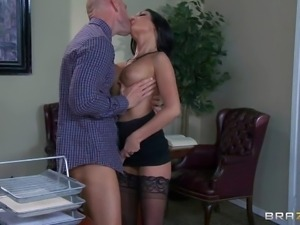 Emily B is a smoking hot lady boss with long