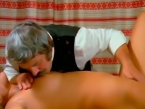 Blonde beauty seduced by her grandpa