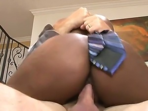 Chocolate skinned sexdoll Jessica Grabbit fucking hard with her white stepdaddy