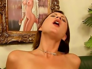 Teen Kim Kay enjoys older guy pounding her right and making her scream of...