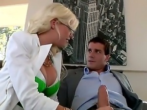Flamboyant blonde slut Britney Amber sucking Ramon Nomars big equipment