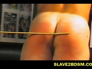 Watch now this cruel mistress punishing her muscular male slave all tied up...