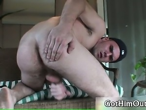 Cute young gay guy gets naked and jerks part5