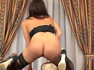 Sexy lingerie whore Gabrielle Moon disgraces her office with her juicy pussy...