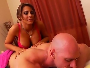 Johnny Sins was waiting his girlfriend while she was in the shower and...
