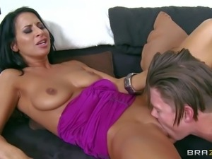 Sophia Bella is his girlfriend's hot blooded slutty mom. This
