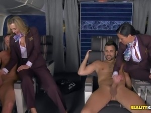 Veronica Avluv and Tanya Tate are hot stewardesses that have