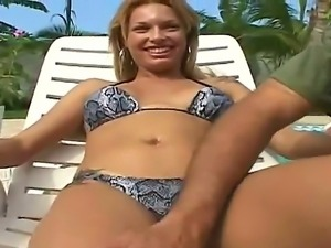 Anselmo found pretty blonde Nickie taking sun bath and couldnt resist an...