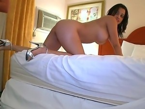 Brunette with big tits Anna gets a hard anal fucking from her horny boyfriend