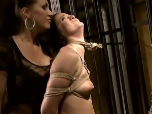 Young naive babe Barbie Pink with hot body gets stripped and tied up in...