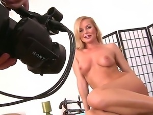 Silvia Saint is posing totally naked, showing her gorgeous boobies and tight...