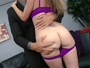 Charles Dera and Courtney Cummz got hot at the office and started their fuck...