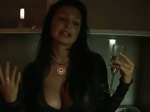 Amazing brunette bombshell Aletta Ocean with big boobs and sexy plump lips...