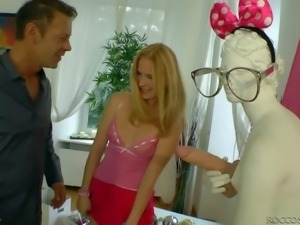 Rocco Siffredi gets his hands on two really hot babes