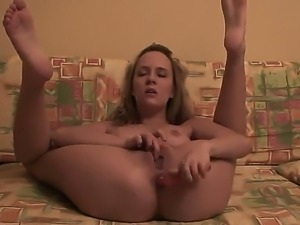 Amateur chick Blue Angel spreads her sexy legs and masturbates with her fingers