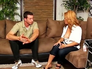 Handsome guy Jordan Ash is nailing his new girlfriend Jazmine Leih with a...