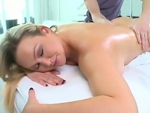 Look at derty massage for superb oiled body of showy sexy Abbey Brooks