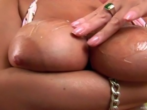 Pandora's huge boobs will take your breath away. Middle aged