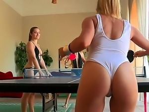 Ainsley Addison, Celeste Star and Dani Daniels playing tennis and taking off...